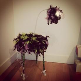 Lampe autruche de Céline Lebovitch