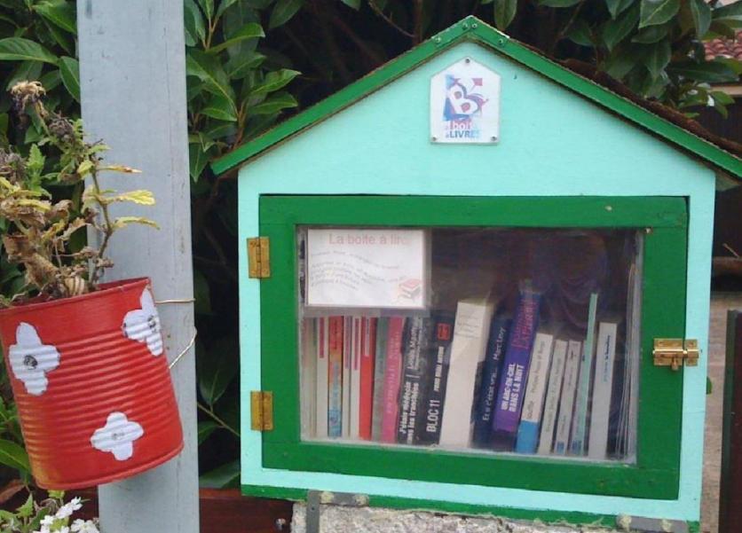Boite à livres à Labège (près de Toulouse)