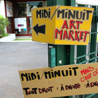 Midi/Minuit Art Market c'est parti...