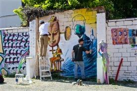 Ernesto Novo & Mg La Bomba en pleine création ! ©Miss Acacia