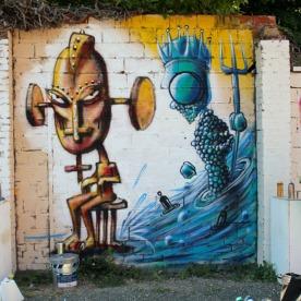 Fresque d'Ernesto Novo et Mg La Bomba ©Miss Acacia