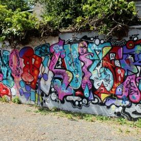 Graffiti dans la cour d'Amarrage © MissAcacia