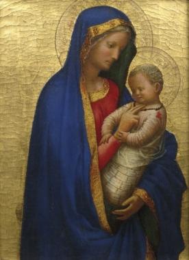 Vierge à l'Enfant (Vierge de la chatouille) - Masaccio