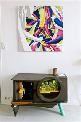 DER (graffiti en 3D) ; Mickael Koska (buffet bas)