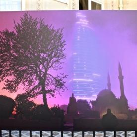 """""""Flame Tower"""", allée des Martyrs (Bakou)"""