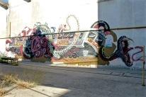 Fresque réalisée par l'artiste NYCHOS