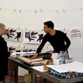 Atelier sérigraphie avec Dugudus