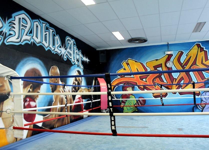 La salle de boxe graffée par Papa Mesk et son frère