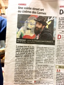 Dans le journal local