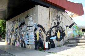 Fresque collective : Stéphane Carricondo & Niark1 & Jerk45 & NED