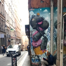 Street art Lyon BRUSK