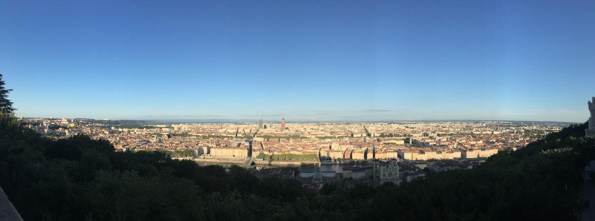 Lyon vue panoramique