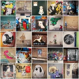 Street art dogs