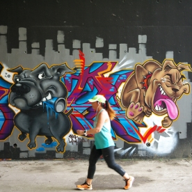 Spyr du crew P19 - Street Art Dogs