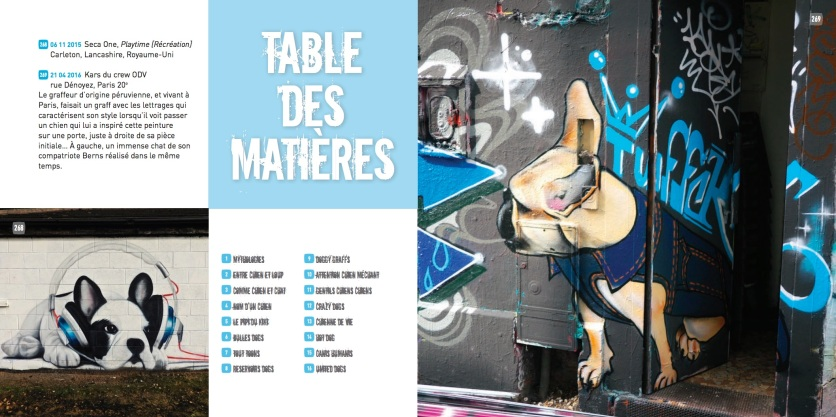 Table matieres Street art dogs