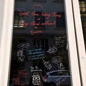 Message sur la fenêtre