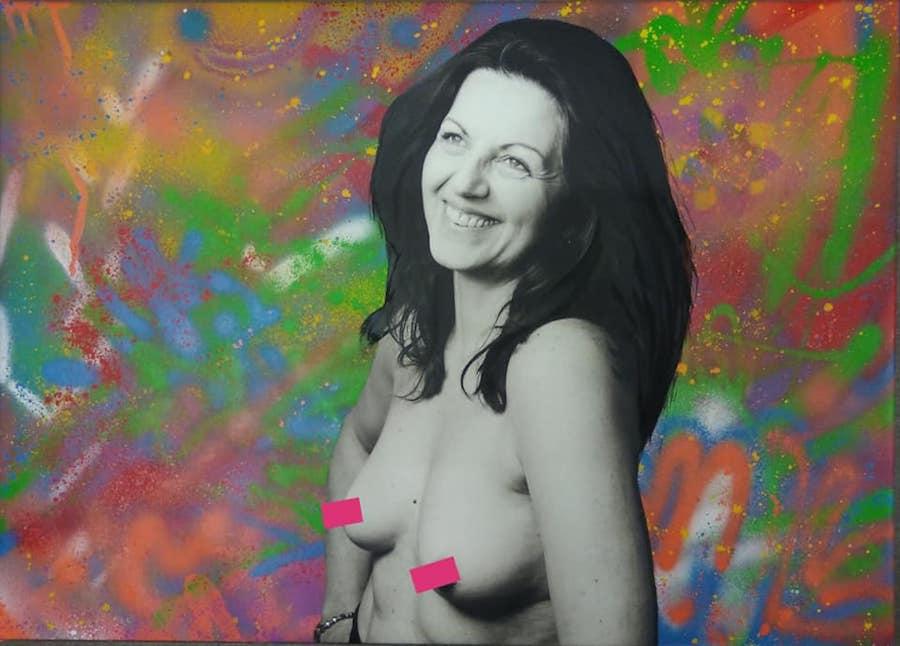 Projet Venus 2018 - Customisation de Alex Beretta-O'Reilly Murals sur une photo de Emmanuelle Trompille Photographe