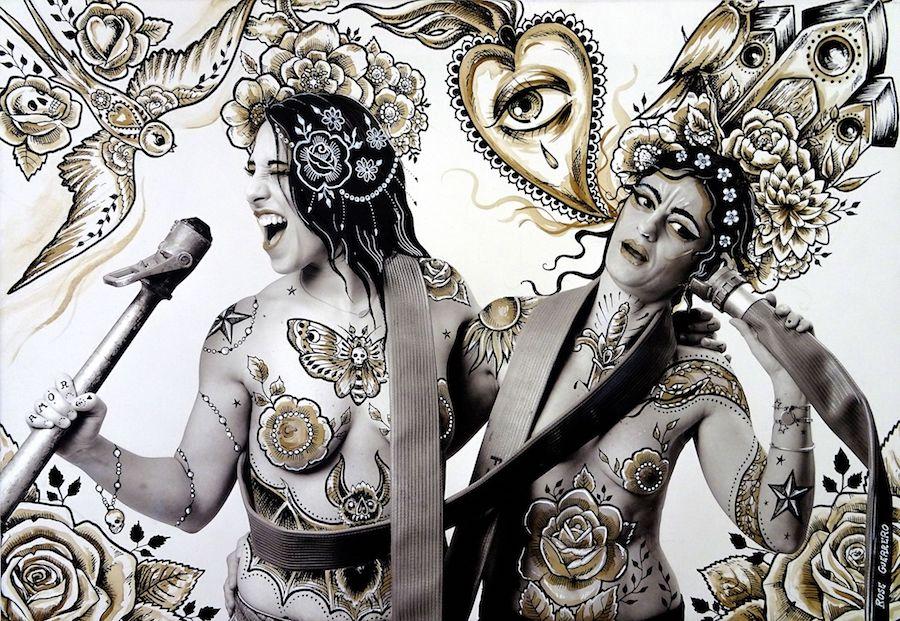 Projet Venus 2018 - Customisation de Rose Guerrero Art sur une photo de Etienne RUGGERI Artwork