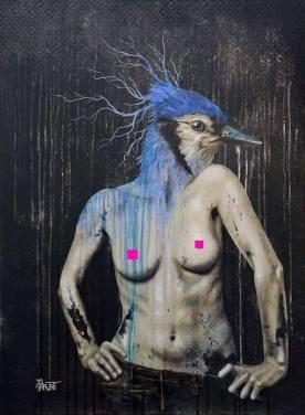 Projet Venus 2018 - Toile de Parvati d'après une photo de Emmanuelle Trompille