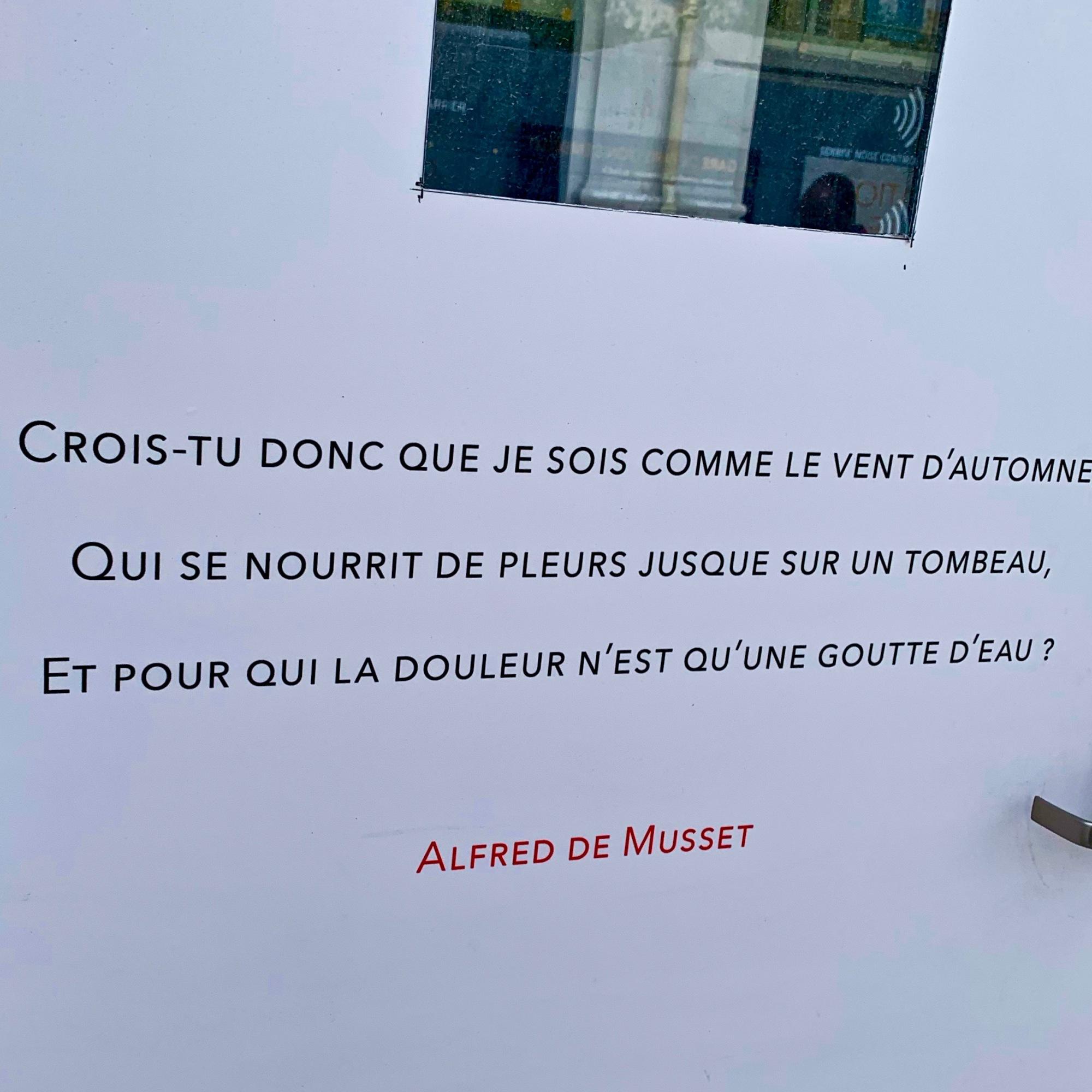Alfred de Musset Printemps des Poètes 2019