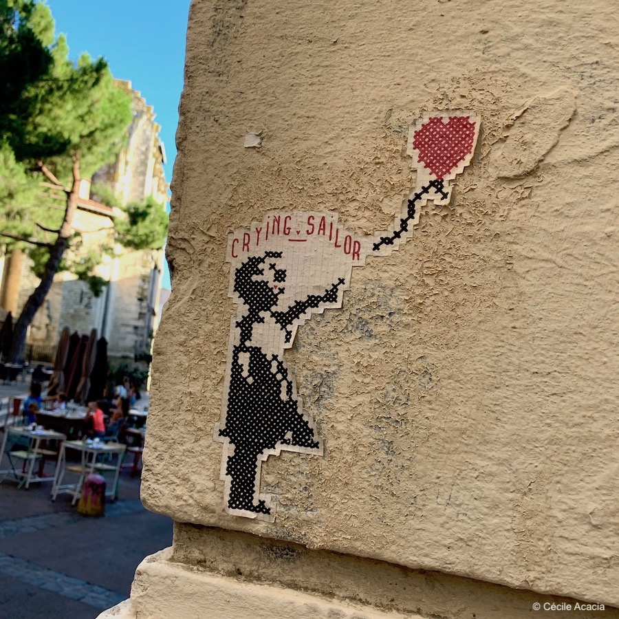 street art Montpellier Crying Sailor