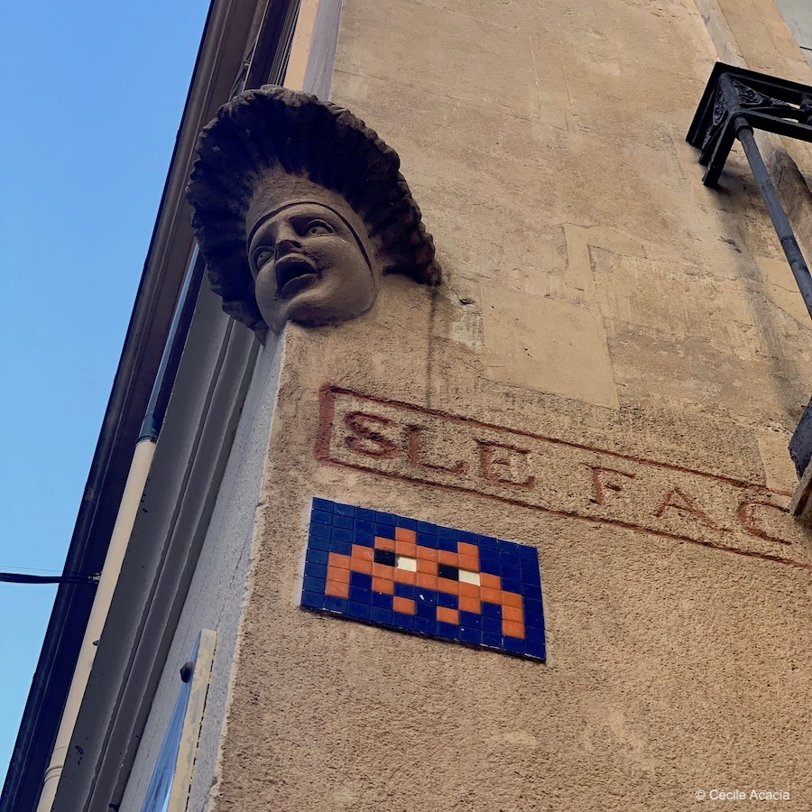 street art Montpellier Invader