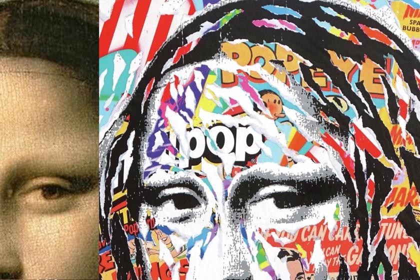 sous le street art le louvre